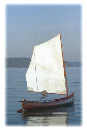 Sailing a Willits Brothers canoe