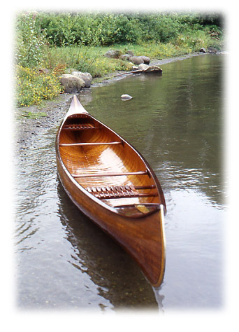 Restored Willits Brothers canoe